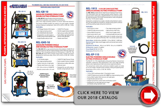 Reliable Equipment 2018 Catalog